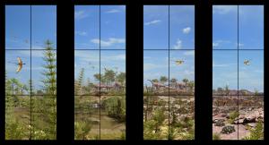 Højrumsskærm - Triaslandskab